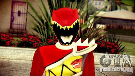 Power Rangers Kyoryu Red Skin для GTA San Andreas третий скриншот