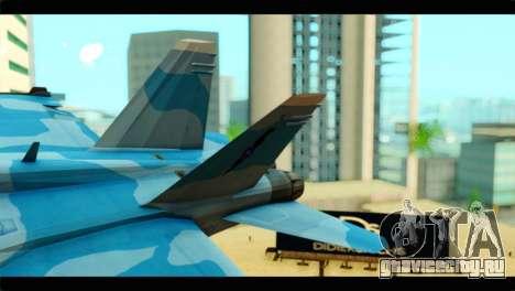 FA-18 Super Hornet Aggressor Squadron для GTA San Andreas вид сзади слева