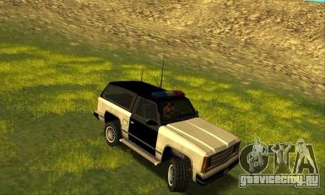 Beta Police Ranger для GTA San Andreas вид сзади слева