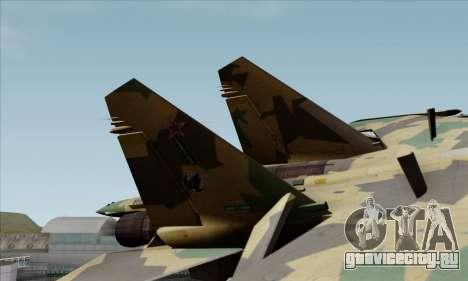 SU-35 Flanker-E ACAH для GTA San Andreas вид сзади слева