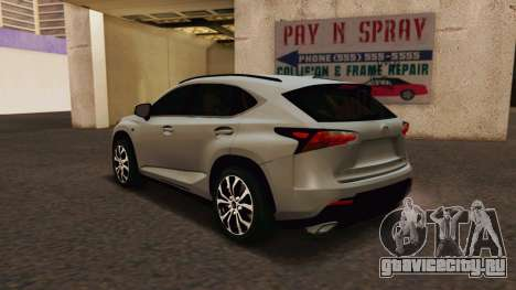 Lexus NX200T v2 для GTA San Andreas вид слева