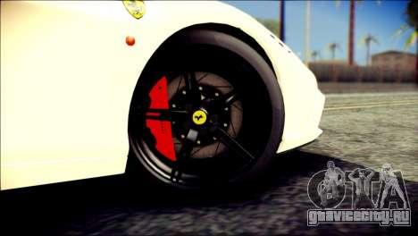 Ferrari 458 Speciale 2015 HQ для GTA San Andreas вид сзади слева