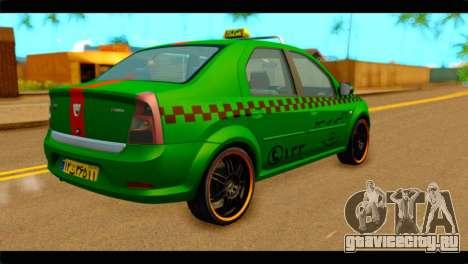 Dacia Logan Iranian Taxi для GTA San Andreas вид слева