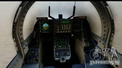 F-2A Zero White для GTA San Andreas вид сзади слева