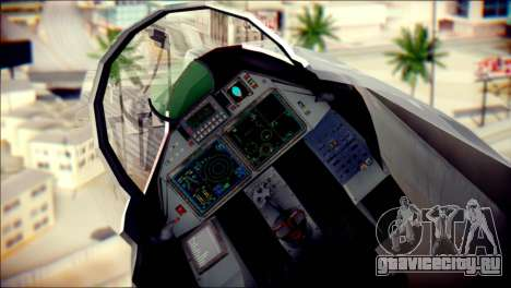 SU-37 Hexagon Madness для GTA San Andreas вид сзади