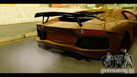 Lamborghini Aventador LP700-4 для GTA San Andreas вид сзади