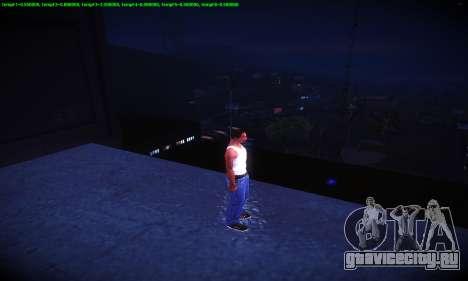 Ebin 7 ENB для GTA San Andreas восьмой скриншот