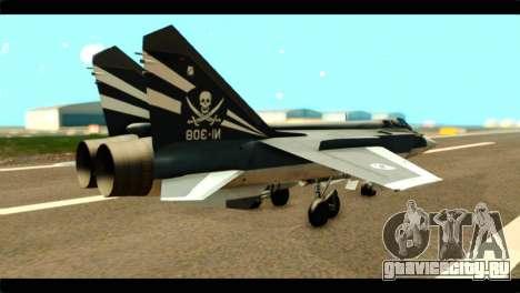 MIG-31 Pirat Squadron для GTA San Andreas вид слева