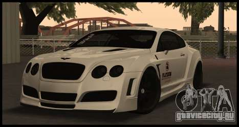 Bentley Continental GT Platinum Motorsport для GTA San Andreas