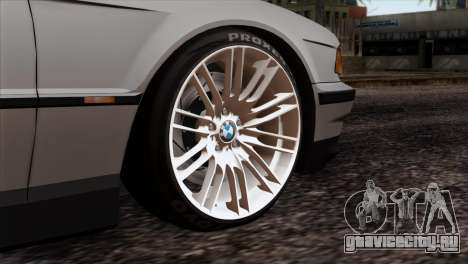 BMW 750iL E38 Romanian Edition для GTA San Andreas вид сзади слева