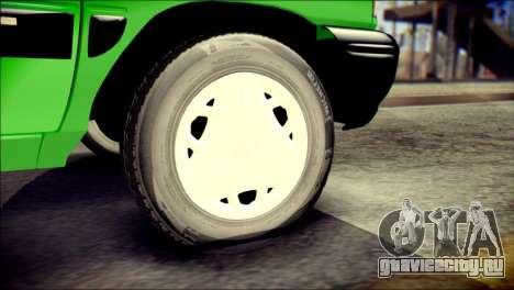 Kia Pride 141 Iranian Taxi для GTA San Andreas вид сзади слева
