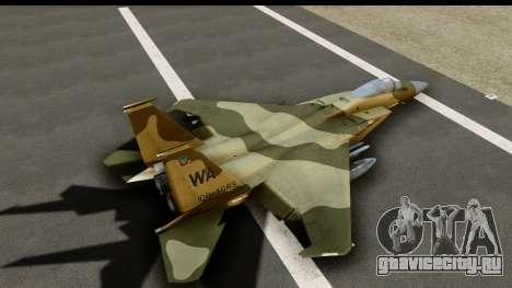 F-15C Eagle Desert Aggressor для GTA San Andreas вид изнутри