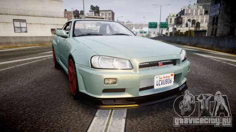 Nissan Skyline R34 GT-R M-Spec Nur для GTA 4