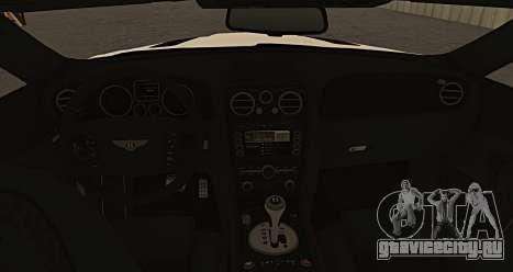 Bentley Continental GT Platinum Motorsport для GTA San Andreas вид сзади слева