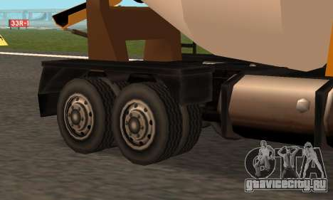 Cement Truck Fixed для GTA San Andreas вид сзади