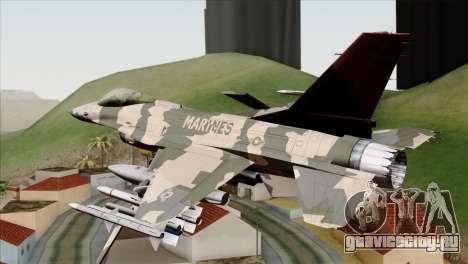 F-16C Top Gun для GTA San Andreas вид слева