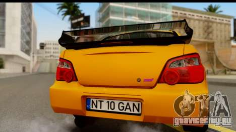 Subaru Impreza WRX STI 2005 Romanian Edition для GTA San Andreas вид справа