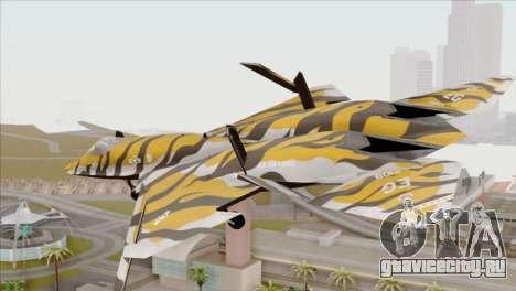 YF-23 Black Widow II Tigermeet для GTA San Andreas вид слева