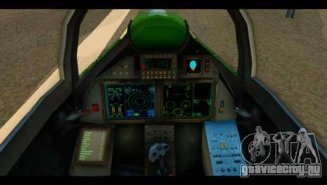 SU-37 Terminator Russian AF Camo для GTA San Andreas вид сзади