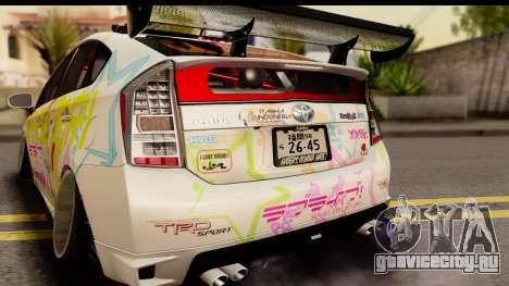 Toyota Prius Hybrid Eri Ayase Love Live Itasha для GTA San Andreas вид справа