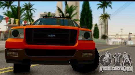 Ford F-150 4x4 для GTA San Andreas вид сзади слева