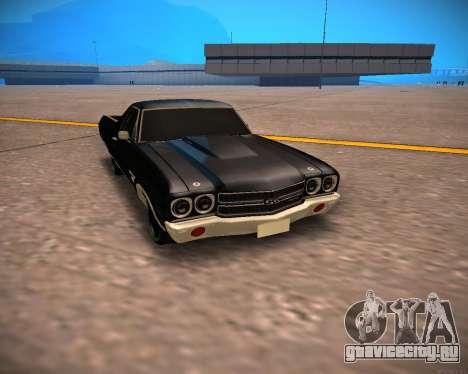 Chevrolet El Camino SS Green Hornet для GTA San Andreas вид слева