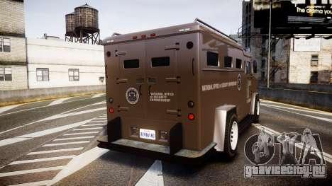 GTA V Brute Police Riot [ELS] skin 1 для GTA 4 вид сзади слева