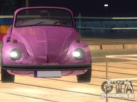 Volkswagen Beetle 1984 для GTA San Andreas салон