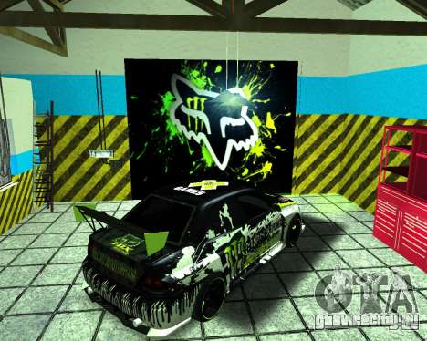 Mitsubishi Lancer Evolution IX Monster Energy DC для GTA San Andreas вид сзади слева