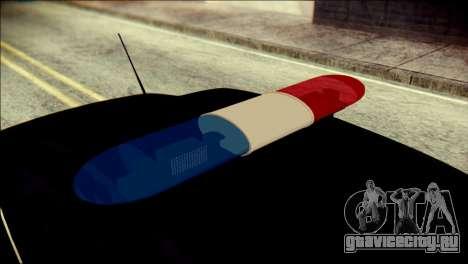 Ford Focus ДПС для GTA San Andreas вид сзади