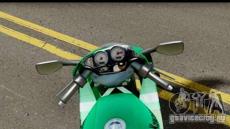 Kawasaki ZX-9R для GTA San Andreas вид сзади