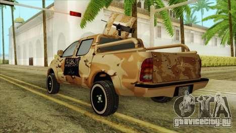 Toyota Hilux Siria Rebels для GTA San Andreas вид слева