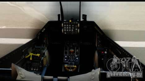 F-16C Polish Air Force Tigers для GTA San Andreas вид сзади