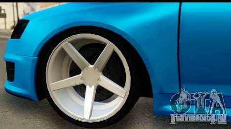 Audi RS6 Vossen для GTA San Andreas вид сзади