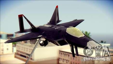 F-22 Raptor Razgriz для GTA San Andreas вид сзади