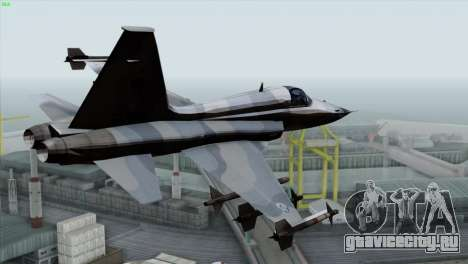 Northrop F-5E Tiger II Wardog Squadron для GTA San Andreas вид слева