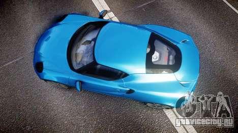 Alfa Romeo 4C 2014 HD Textures для GTA 4 вид справа