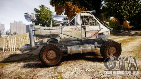 Военный бронированный грузовик для GTA 4 вид слева
