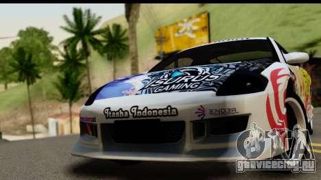 Mitsubishi Eclipse 2003 Fate Zero Itasha для GTA San Andreas вид сзади слева