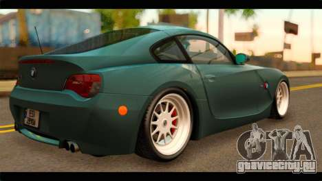 BMW Z4M Coupe для GTA San Andreas вид слева