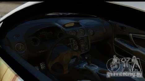 Mitsubishi Eclipse 2003 Fate Zero Itasha для GTA San Andreas вид сзади