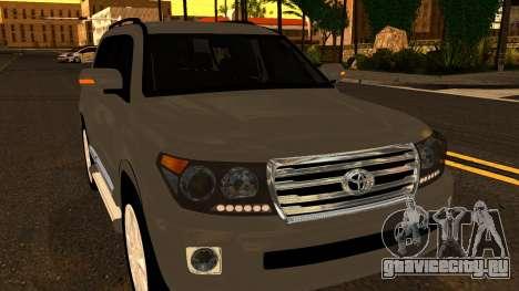 Toyota Land Cruiser 200 2013 для GTA San Andreas вид сбоку