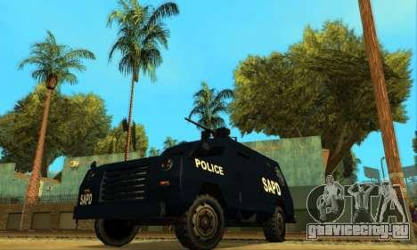 Beta FBI Truck для GTA San Andreas вид сзади