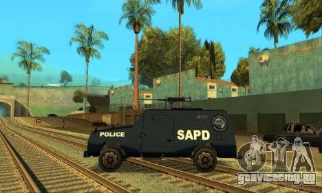 Beta FBI Truck для GTA San Andreas вид справа