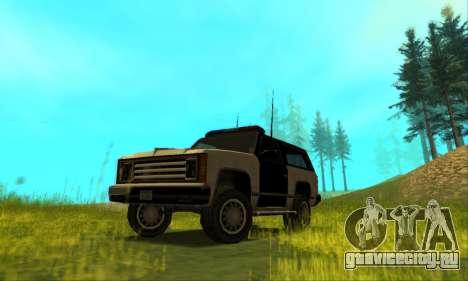 Beta Police Ranger для GTA San Andreas вид сбоку