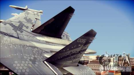 SU-37 Hexagon Madness для GTA San Andreas вид сзади слева