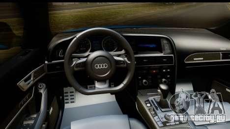 Audi RS6 Vossen для GTA San Andreas вид изнутри