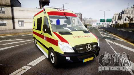 Mercedes-Benz Sprinter 311 cdi Belgian Ambulance для GTA 4