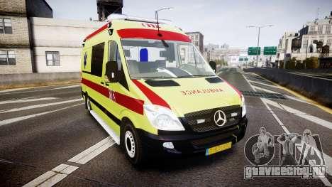 Mercedes-Benz Sprinter 311 cdi Belgian Ambulance для GTA 4