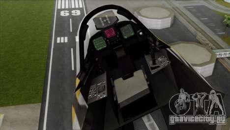 YF-23 Black Widow II Tigermeet для GTA San Andreas вид сзади слева